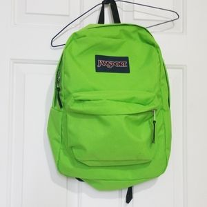 Jansport Neon Lime Green Backpack
